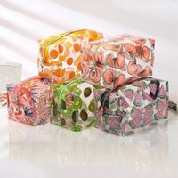 Multifunction Waterproof Transparent Cosmetic Cute Bags Storage Pouch Makeup Organizer Clear Case Toiletry Bag PVC Zipper