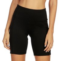 Yoga Outfits Women High Waist Pocket Short Workout Running Athletic Tight Shorts