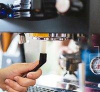 5.5inch Kaffeemaschine Reinigung Nylonbürsten Mühle Espresso Grime Kunststoffgriff Tastaturen Kitchen Cleaner Werkzeuge FWF7378