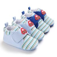 First Walkers Anti-Slip Toddler Soft Soled Winter Infant Shoes Baby Girls Boys Warm Casual Sneakers Cartoon Stripe