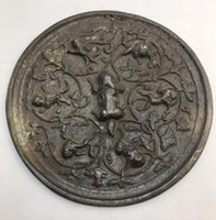 Ym Cobre estátua coleção de espelho de bronze antigo casas antigo espelho de cobre decoração de casa decoração de mesa feng s