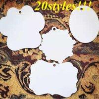 blank Sublimation Aluminium pendant metalchristmas decoration Creative ornaments Heat transfer Printing DIY 20styles
