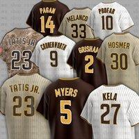 23 Fernando Tatis Jr. Jerseys de béisbol 5 Wil Myers 13 Manny Machado 27 Keone Kela 30 Eric Hosmer Blake Snell Trent Grisham Kirby Yates Kinsler Joe Musgrove
