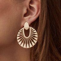 Women Vintage Jhumka Earrings 2021 Ethnic Hollow Fan-shaped Gypsy Trible Water Drop Dangle Jewelry Pendientes & Chandelier
