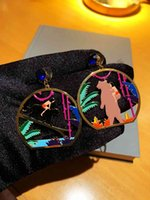 Stud Earrings d Family Fairy Tale Compass Bear Caibao with S925 Silver Ear Nails