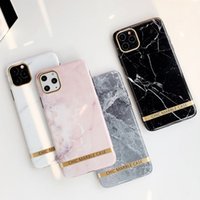 Fashion Marble Silicone Case for iPhone 11 12 Pro Max X XS Max Cases Soft TPU Shockproof Chic Ins Cover for iPhone 7 8 Plus