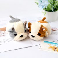 4 Colors mini Plush keychains Stuffed toys Animal DOLL 12CM Soft Keychain GiftAnimal dog small pendant display