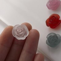 Nail Art Decorations 10Pcs Camellia Flower Resin Gems 3D Polish Shaped Rhinestones For Manicure UV Gel Decoration Stones