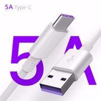 Câble de surcharge de 1M 5A pour Huawei Samsung S20 Ultra USB Câble Type C Câble USB 3.1 Type-C Fast Chargement Câbles Données