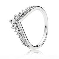 العصرية حقيقية 925 الفضة الاسترليني تلميع الأميرة عشبية الدائري للنساء الزفاف خطوبة حزب باندورا مجوهرات هدية