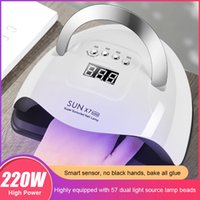 220/120W Dryer UV LED Lamp Professional Nail Gel Curing Machine Timer Four-speed Intelligent Induction Manicure Tools