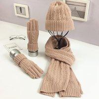 Hats, Scarves & Gloves Sets Autumn Winter Fashion Knitted Wool Scarfs Hats Designer Men And Women Crochet Hat