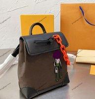 Рюкзаки Shoon Sags Nano Steamer M80327 Мини-обратно Пакет Crossbody Вышивка Украшения Пресбыопия Ткань Сеть Кожаная Ручка