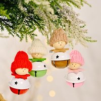 Christmas Doll with Jingle Bells Pendant Decoration Xmas Tree Hanging Ornaments Holiday Party Decor HWB10562