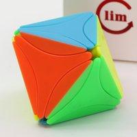 Magic Cube Puzzle FS Limcube Octaeder V2 Diamant Form Octahedral Aufkleber acht Gesichter Cube Professionelle Pädagogische Spielzeug