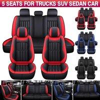 مقاعد مقعد السيارة وسادة السيارات يغطي حامي ديلوكس بو الجلود الأمامية + الخلفية مجموعة كاملة suv شاحنة ل E46