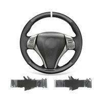 DIY Auto Lenkradabdeckung Warp für Nissan Altima 2013-2018 / Rogue Durable Black Wildleder PU Carbon Faser