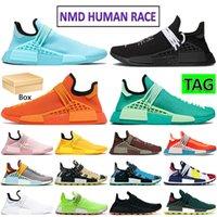2021 Yeni NMD İnsan Yarışı Çalışma Ayakkabı Çekirdek Siyah Beyaz Kalın Altın Yeşil Çikolata Hu Pharrell Güneş Paketi Mavi Erkek Kadın Sneakers