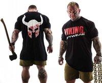 VIKING New Brand clothing Gyms Tight t-shirt mens fitness t-shirt homme Gyms t shirt men fitness Summer tops X0602