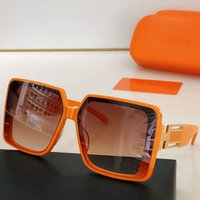 Vrouw designer zonnebril met H UV400 Grote en dubbele tempels brief benen lederen klassieke stijl frame bril eenvoudig logo 9186 The Meta Feej