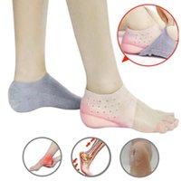 Ayak Bileği Desteği Görünmez Yükseklik 2 CM Çorap Artırmak Topuk Pedleri Silikon Tabanlık Ayak Masaj Ortopedik Arch Spor Güvenliğini Destekler