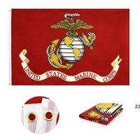 American Marine Corps Bandeiras Poliéster Duplo Stitching Estados Unidos Bandeira dos EUA Banner Garden Fontes HWB7617