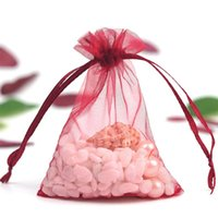 Storage Bags 100pcs Organza Drawstrings Christmas Gifts Candy Package Yarn Pouch Wedding Party