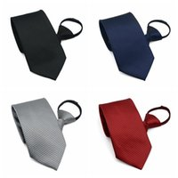 Bow Ties Men Zipper Tie Commercial Formal Suit Lazy Neck Ring Necktie Striped Male Wedding Narrow Cravate Gifts