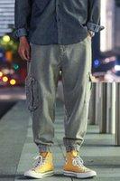 Pantalon Hommes AprilMomo2021 Département de printemps et d'été Outillage Pieds de poutre Neuf points Pantalon Casual Harlan Couleur Solid en vrac