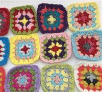 50pcs / lot Handmade Original 7.5cm Commercio mano all'uncinetto Dilometri Pad Pad Pad Mat Photo Photo Puntelli Placemat Mat decorativo 1919 V2