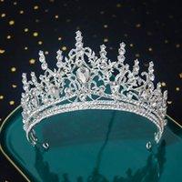 2021 Белый Кристалл Свадебные Ювелирные Изделия Тиара Кэндвики Кронца Принцесса Для Свадебных Платье Аксессуары
