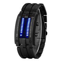 Addies Lüks Su Geçirmez Elektronik İkinci Nesil İkili LED Saatler Erkek Dijital Kol Saat Saatleri Kadınlar Kid Saatı