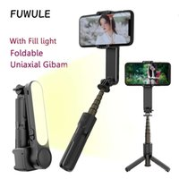 Light-filling anti-shake Smartphone gimbal stabilizer Automatic Balance Selfie Stick Tripod Bluetooth Remote for ios andriod