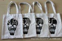 Canvas Halloween skull shopping pure canvas folding cotton environmental protection handbag