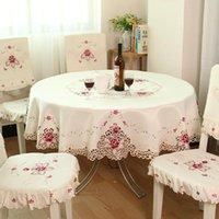 Litchie stile europeo ricamo tavolo da tavolo semplice rettangolo cover home matrimonio festa di compleanno tovaglia