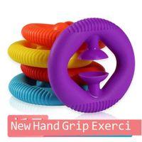 Silicona mano agarre fidget parnazador dedo grapa arco iris manos arco iris manos de fuerza agarre brazo músculo ejercicio cinco dedos entrenamiento rehabilitación estrés alivio juguete h41v9kq