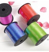 Renkli Balon Şerit Düğün Doğum Günü Partisi Süslemeleri Hediye Sarma Dize 220 m * 5mm / Rulo 15 Renk Seçilebilir AHD5866