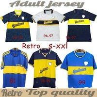 10 MARADONA 1995 1996 1996 1998 BOCA JUSIORS REPRE MOJEMARAT Soccer Musicys 95 Винтажные футбольные футболки Home Blue Yellow Classic Antique CamiSeta de Futbo