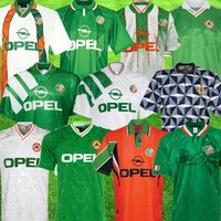 1990 Ireland retro soccer jersey 1994 world cup Ireland kit green 1988 1992 1993 1995 1996 1997 1998 vintage Northern IrelandSoccer Shirt National Football uniforms