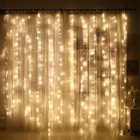 Rideaux Fairy Tale lumières Fond Mur Christmas Party Fête LED Mesh Étanche Tree Décoration Bandes