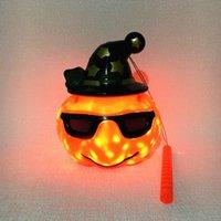 Halloween Lantern Pumpkin Gypsophila Portable Hangable Jack-o'-Lantern Holiday Lights Indoor Outdoor Decoration Party Toys without Battery