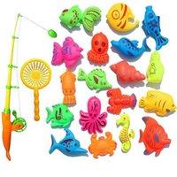 Kreatives Spielzeug 22-teiliges magnetisches Angel-Set-Bad S Hohe Qualität Exquisite 210712