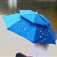 휴대용 안티 UV 우산 모자 55cm 태양 그늘 바보 쏘아 방수 해변 머리 텐트 야외 캠핑 낚시 하이킹 텐트와 피난처