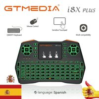 GTmedia I8X Plus Wireless Keyboard 2.4GHZ Spanish Air Mouse Touchpad I8 Remote For G1 G2 GTC X96 Android Smart TV Box Keyboards