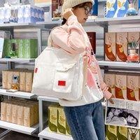 Evening Bags Student Totes Shoulder Bag Big Capacity Shopping Girl Eco Reusable Shopper Canvas Messenger Handbags