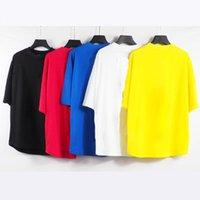 Herren Designer T-shirts PA Vertikal gestreifter Brief Druck Bat Sleeve Drop Schulter T-Stück für Männer und Frauen Paare Mode lose kurze Ärmel