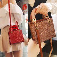 Texture bright star bag women's 2021 new fashion Sequin Princess Bag Mini Sequin Handbag New Women's bag C0505