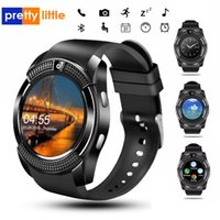 V8 Smart Watch Bluetooth Watches with 0.3M Camera MTK6261D Smartwatch for Android phone Micro Sim TF card