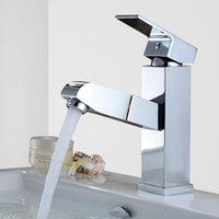 Diseño de grifo del grifo Chrome / Balck Cuenca para lavar el cabello y la cara pulido fregadero mezclador grifo de baño grifo
