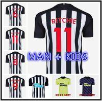 Homem + Kit Kids 20 21 Ritchie Jerseys de futebol Home United Joelinto 2021 Home Lascelles Shelvey Futebol Yedlin Camisas Men Newcastl